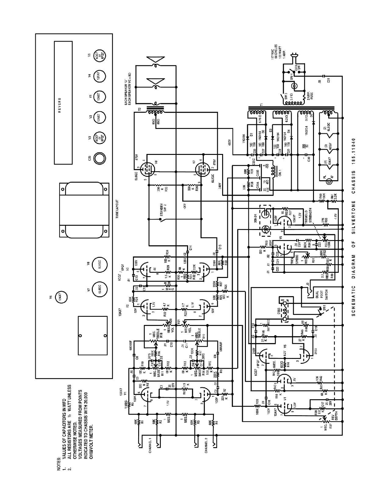silvertone world - amplifiers - 1960s - model 1484